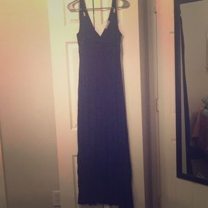 Beautiful black floor length maxi dress.